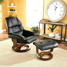 leather swivel chair recliner ottoman set bonded with movable side table and black sent annaldo cream