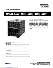 lincoln electric idealarc r3r 500 manuals lincoln electric idealarc r3r 500 operator s manual