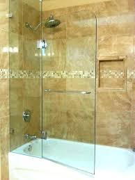 home depot glass door bathtub doors half shower for sliding with