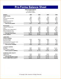 Unique Pro Forma Financial Statement Template Ideas Sample