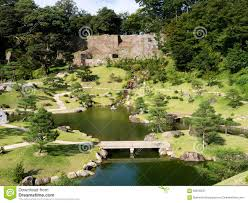 Japanese Landscape Architecture Traditional Japanese Landscape Garden On The Grounds Of Kanazawa