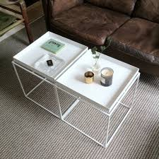 double square coffee table tray styling with metal base painted