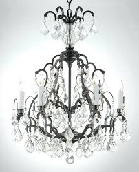 black wrought iron chandelier with crystals alluring chandelier with shade and crystals black wrought iron chandelier
