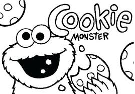 Baby Cookie Monster Coloring Pages Free Page Printable Coloring