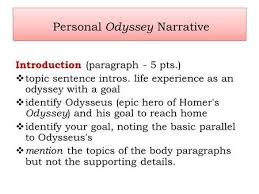 the odyssey prompt odysseus is considered to be a hero in personal odyssey narrative introduction paragraph 5 pts iuml129para topic sentence intros