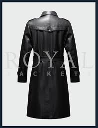 royal jackets winter leather long jacket trench coat for men
