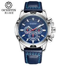 futuristic mens watches promotion shop for promotional futuristic ochstin brand new fashion casual man male chronograph clock military army sport leather strap luxury wrist quartz watch