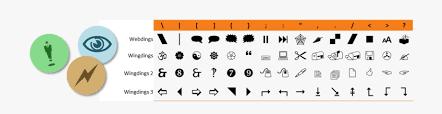 4 Wingdings Font Keyboard Map Transparent Cartoon