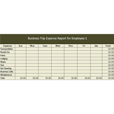 Employee Business Expenses Free Travel Log Template Download Plan ...