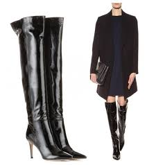 las black patent leather shiny sti high heel over the knee boots real leather pointed toe thigh high boot size41 42 ariat boots work boots from