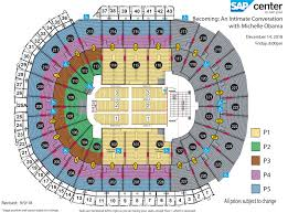 3d Seating Chart San Jose Sharks Becoming An Intimate Conversation With Michelle Obama Sap