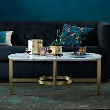 view in gallery marble and brass coffee table