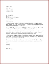 teaching mla format resignation letter for a school teacher new letter intent for