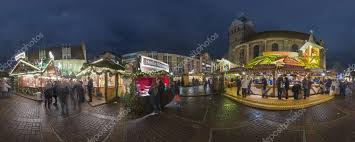 Hannover, Germany   December 18, 2014: Christmas Illumination On Streets In  The Center Of Hannover. 360 Degree Panorama.