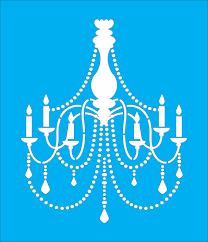 chandelier reusable stencil