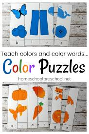 The noun for this unit is cat. 10 Printable Color Word Puzzles For Early Learners