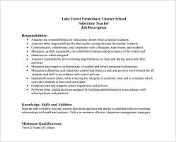 Resume Elementary School Teacher Responsibilities Website