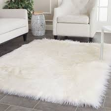 enchanting fluffy rugs target on decoration area beautiful wolly white rug grey floor