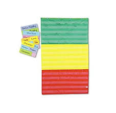 Amazon Com Adjustable Tri Section Pocket Chart With 18