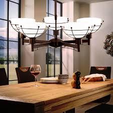 Design 20 Watt Led Pendel Leuchte Vintage Esszimmer Kronleuchter Braun 5 Flg Im Set Inklusive Led Leuchtmittel