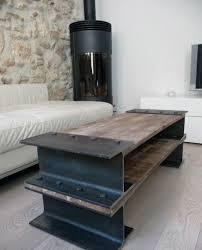 steel furniture designs. diy steel beam with wood man cave furniture table designs 1