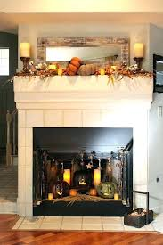 inside fireplace decorations