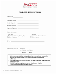 Time Off Request Form Template Microsoft Local 4 Time F Request Form