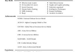 automated logistics specialist 92a resume example united states