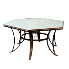 image of hexagon patio table replacement glass replace patio table glass hexagon patio table design ideas