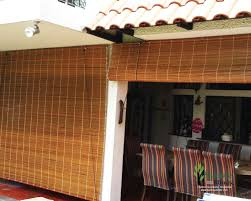 outdoor bamboo blinds for landed balcony outdoor blinds singapore
