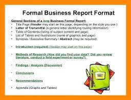 Forms And Format Of Formal Report Business Example Sample Recent