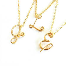 18k solid gold initial pendant custom personalized solid gold initial necklace