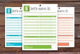 Kids Commission Chart Printable Kids Commission Allowance Chart In 2019 Products