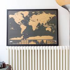 scratch map deluxe poster framed