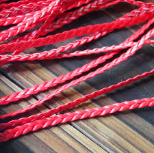 whole braided leather cord jewelry supplies 5mm red quality braid leather strand craft supplies 5m