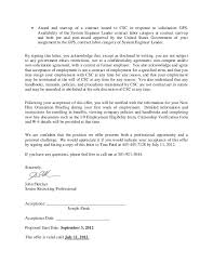 job offer acceptance letter   abstract sample sephora resume