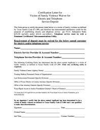 Fillable Online Oag State Tx Certification Letter For Victim Of
