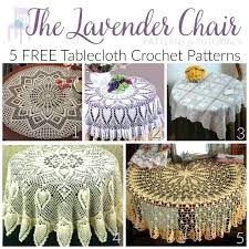 crocheted table cloth patterns crochet round tablecloth patterns free