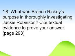 the noble experiment rdquo ppt video online what was branch rickey s purpose in thoroughly investigating jackie robinson