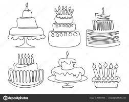 Birthday Cake Drawing Stock Vector Agnieszka 159957846