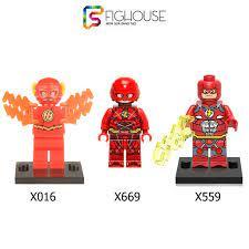 Xếp Hình Minifigures Siêu Anh Hùng Tia Chớp The Flash - Đồ Chơi Lắp Ráp non- lego X559 X669 X016 PG257 [B1]
