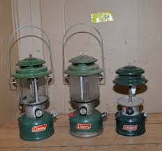Coleman Gas Lanterns Two 220f 288 Collectible Camping Tool Lot