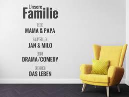 Wandtattoos Für Coole Familien Familiensprüche Und Motive