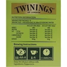 twinings pure peppermint tea bags image left side