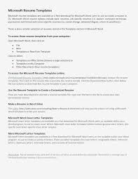 Microsoft Word Resume Template Free Resume Word Document Examples