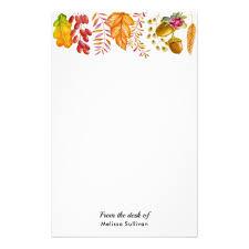 Autumn Leaves And Foliage Border Stationery