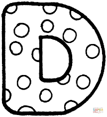 Letter D Coloring Pages Free Coloring Pages