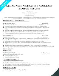 San Administration Sample Resume Simple Sample Resume Legal Assistant Resume Legal Secretary Example Legal
