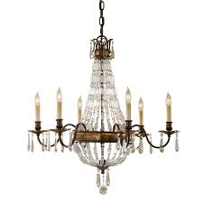 Feiss Bellini 6 Light Bronze Crystal Candle Chandelier FE/BELLINI6 ...