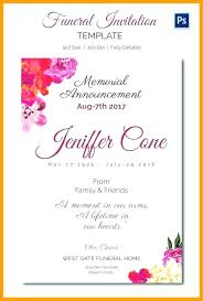 Memorial Announcement Cards Death Announcement Cards Free 285635622229 Funeral Invitation